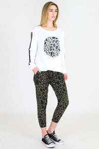 Leopard Sweater - White