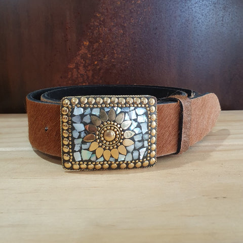 Mosaic Belt - Tan