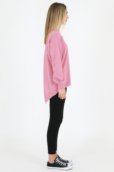 Newhaven Sweater - Tango Pink