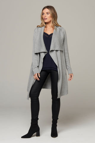 Elina Waterfall Cardigan - Grey