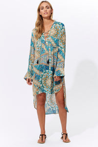 Marguerite Shirt Dress - Mosaic