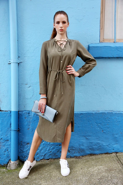 Bianca Dress - Khaki