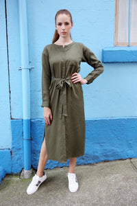 Celine Dress - Khaki