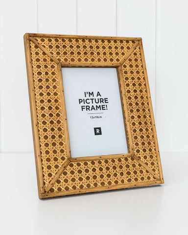 Rattan Photo Frame - Large