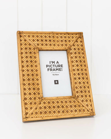 Rattan Photo Frame - Small