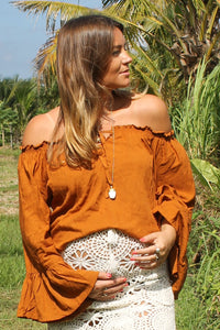 Bella Top - Burnt Orange