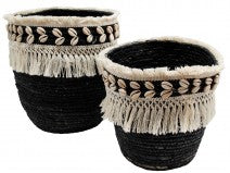 Basket Fringe Black Medium