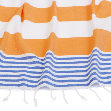 Byron Towel - Orange/Cobalt