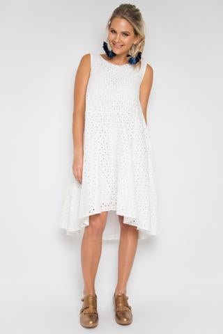 Enchant Dress - Pipped Anglaise