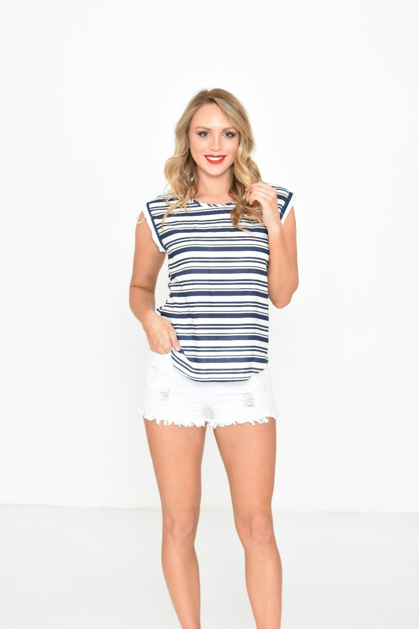 Stripe T-Shirt - Navy