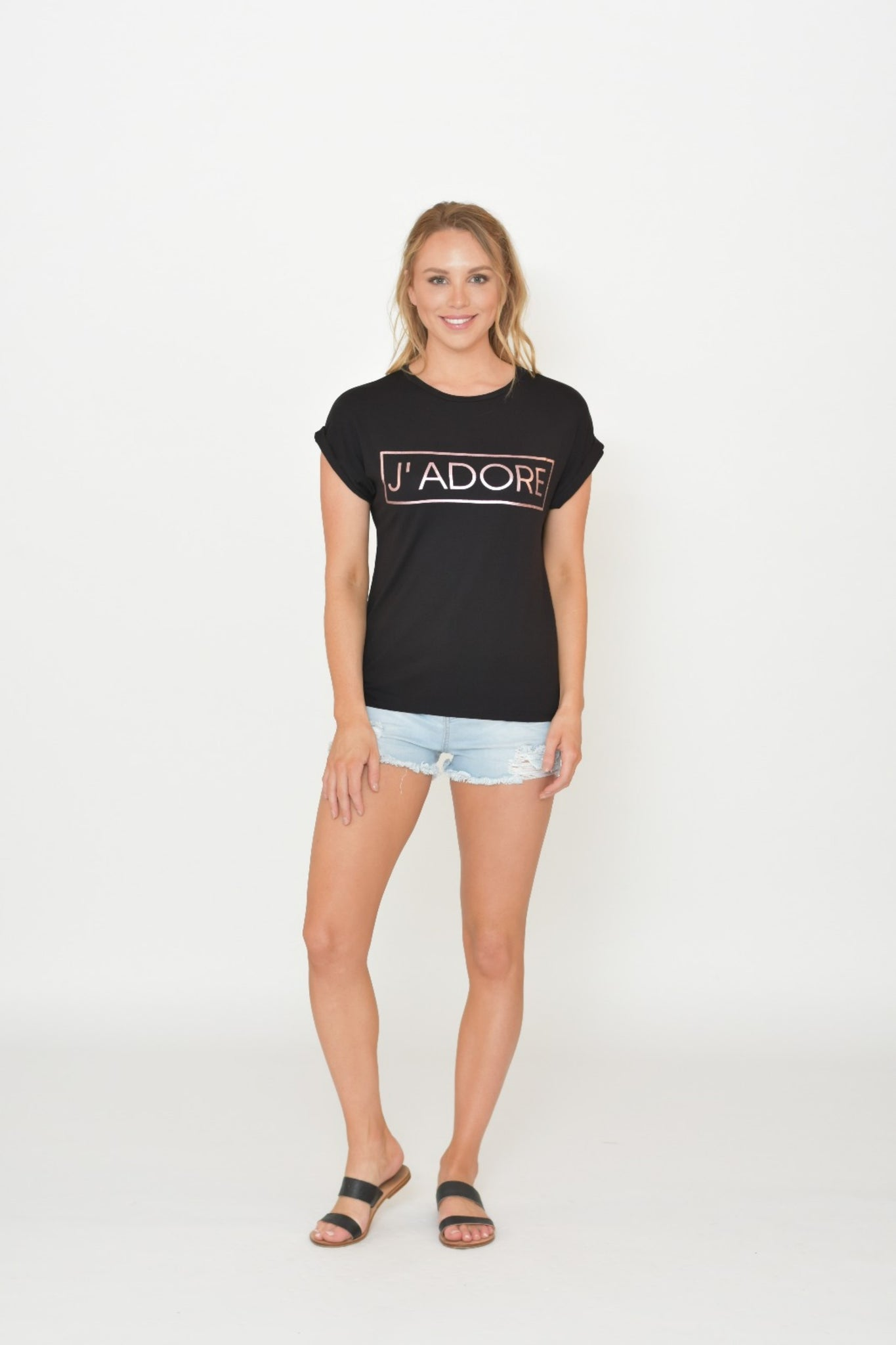 J'Adore T-shirt in Black