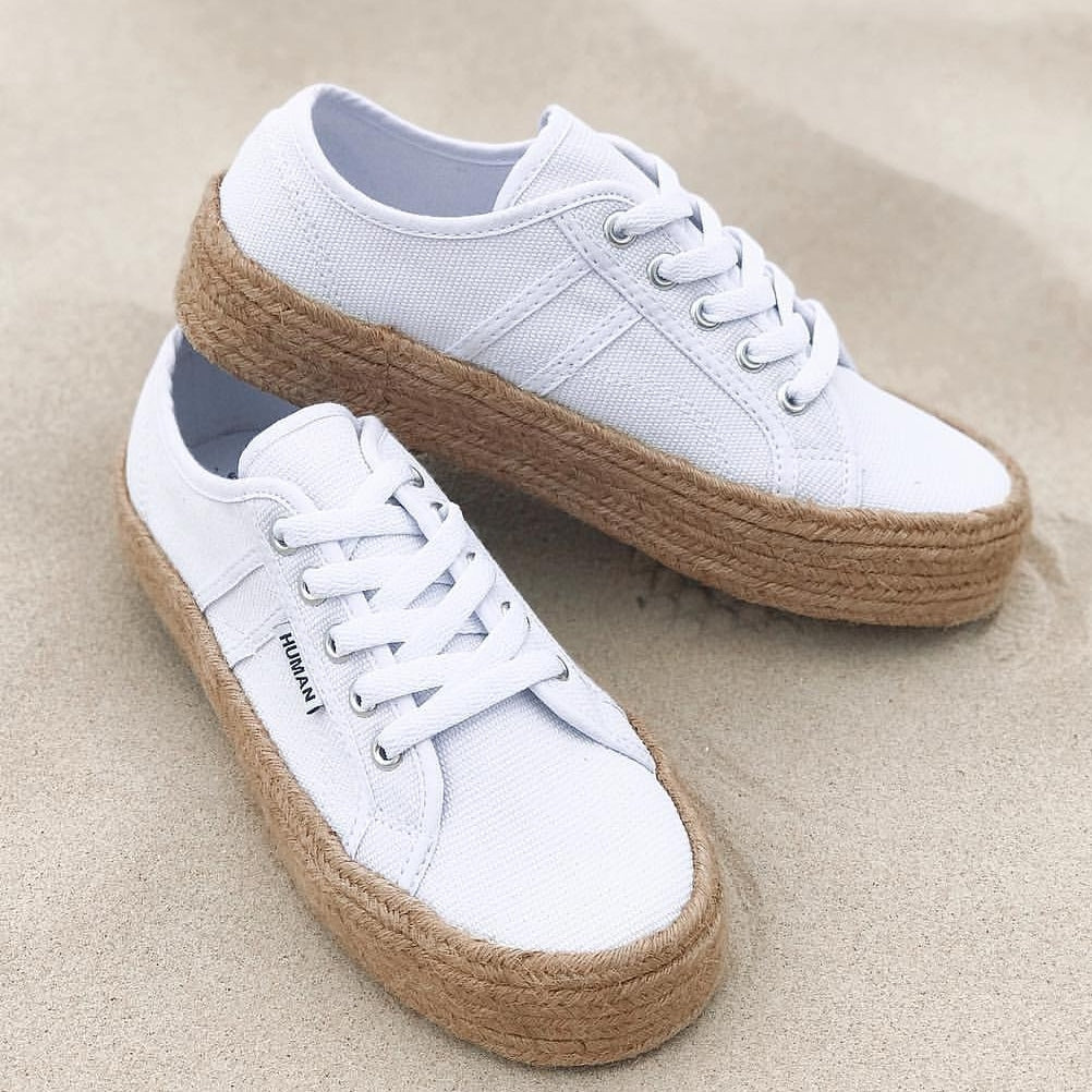 Charlotte Canvas Sneakers - White