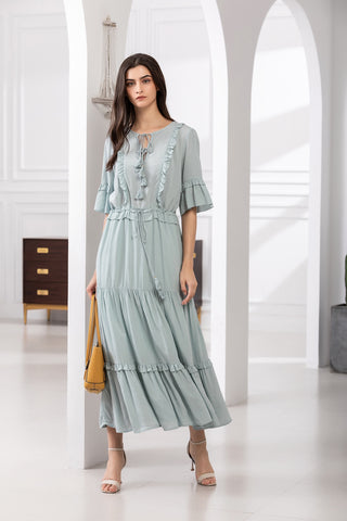 Valentina Maxi - Powder Blue
