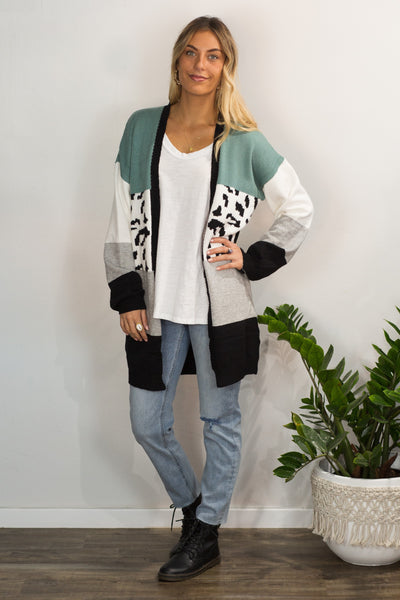 Safari Cardigan - Seafoam