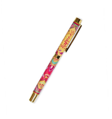 Happiness Rollerball Pen - Purple Ink