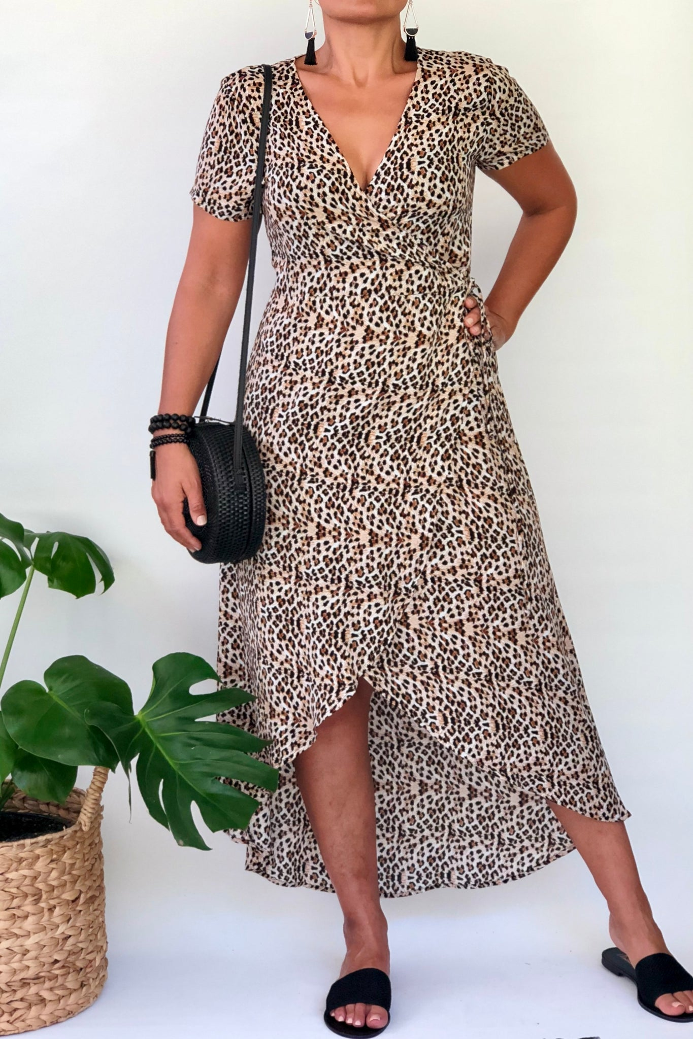 Wild Side Wrap Dress