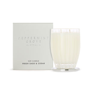 Peppermint Grove Candle - Fresh Sage & Cedar