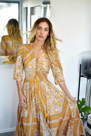 Indiana Marigold Maxi Dress