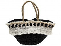 Market Bag Fringe Black