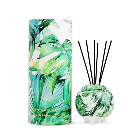 Mini Mews Diffuser - Green Sage & Cedar