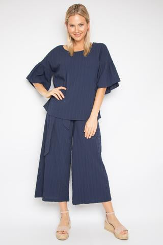 The Essential Pant - Crinkle Navy