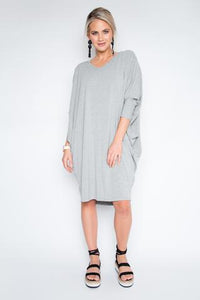 Long Sleeve Miracle Dress - Grey Marle
