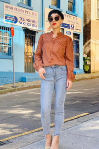 Celine Blouse - Rust