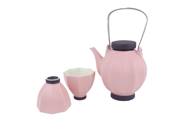 Pink Lantern Tea Set Pot 500ml + Cup 100ml
