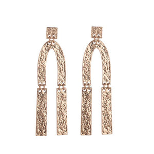 Sian Hammered Earrings - Gold