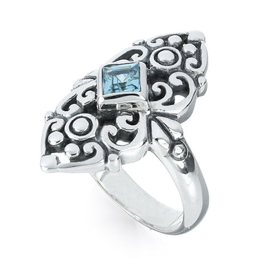 Island Soul Ring with Blue Topaz