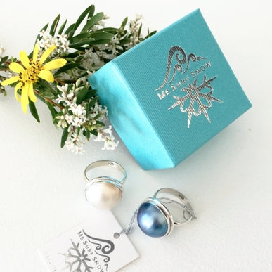 Blue Mabe Pearl Resort Ring