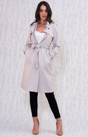 Jade Trench Coat - Grey