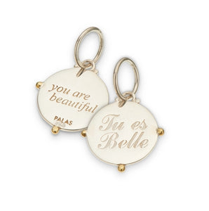 French 'Tu es belle' charm