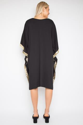 Sequinned Kafdress - Black/Gold