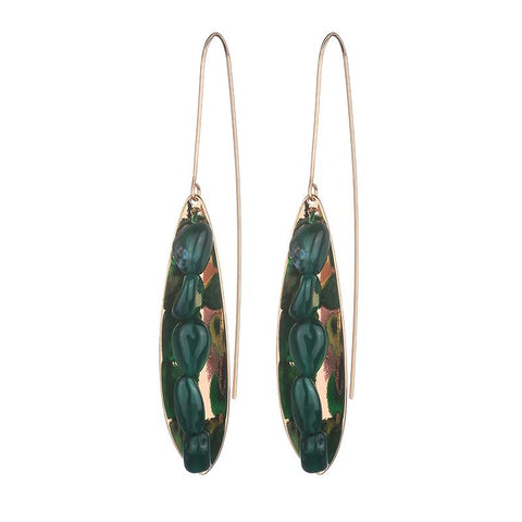Victoria Earrings - Green Aventurine