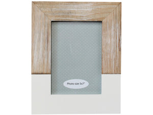 White and Timber Photo Frame