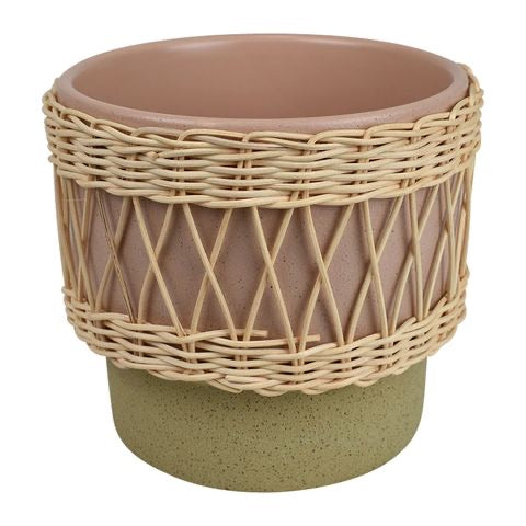 Cancun Rattan Planter