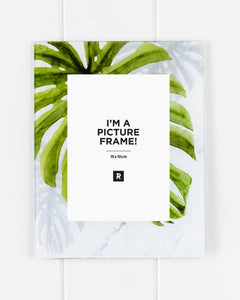 Glass Photo Frame - Green Monsteria Palm - 18x23