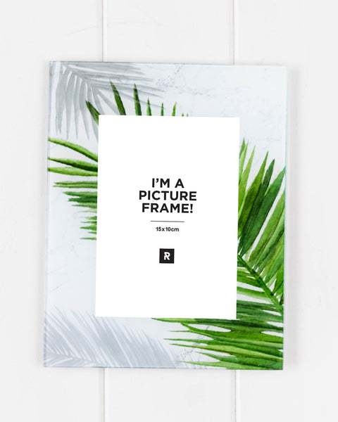 Glass Photo Frame - Green Palms Fronds - 18x23