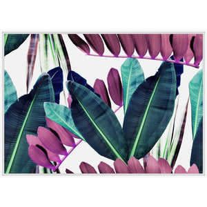 Green & Pink Leaves Print