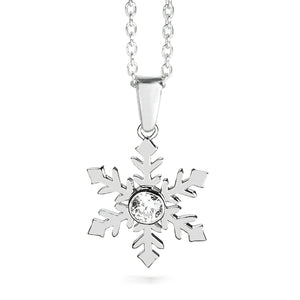 Snowflake Necklace with Cubic Zirconia