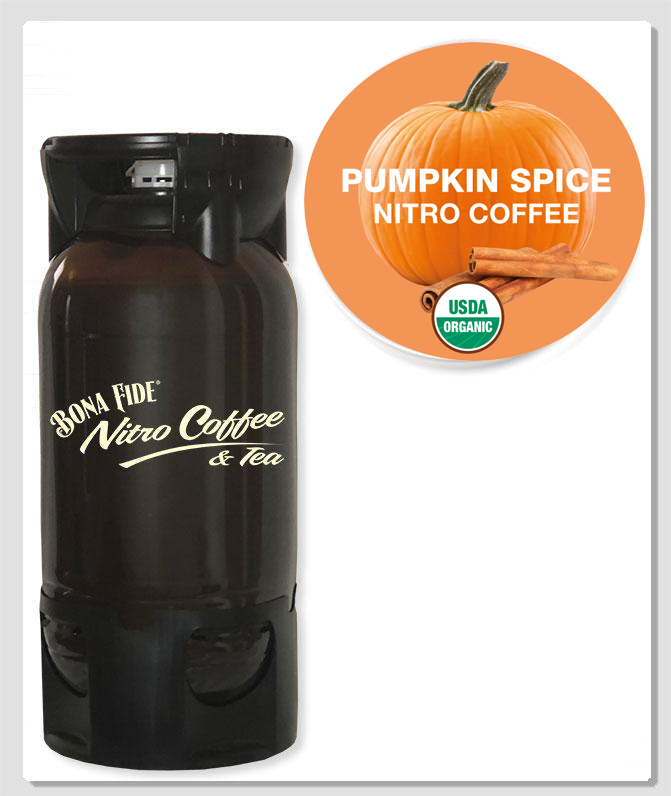 Organic Pumpkin Spice Nitro Coffee PET 5 Gal Keg