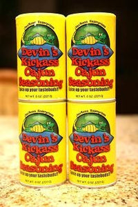 Devin's Kickass Cajun Seasoning: (4) 8 oz. cans