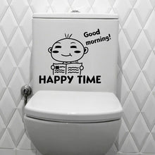 Load image into Gallery viewer, toilet stickers wall decorations diy vinyl adesivos de paredes home decal mual art waterproof posters paper #2050