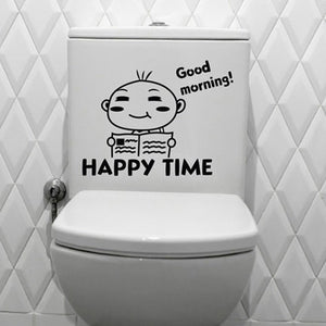 toilet stickers wall decorations diy vinyl adesivos de paredes home decal mual art waterproof posters paper #2050
