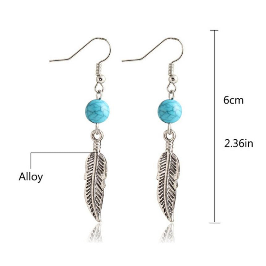 SUSENSTONE 2016 New Fashion sterling-silver-jewelry earrings fashion jewelry 1Pair Circular Leaves Eardrop Jewelry