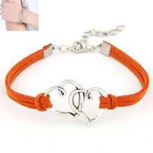 Load image into Gallery viewer, Women Love Heart Handmade Alloy Rope Charm Jewelry Weave Bracelet Gift GN