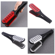 Load image into Gallery viewer, Hair Straightening Comb Styling Tools Boar Bristle Double Sided Brush Comb Clamp