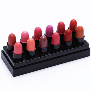 12pcs Waterproof Kiss Proof Lipstick Long Lasting Matte Lipgloss Set
