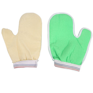 Bath Exfoliating Glove Thumb Body Scrub Gloves Bath Shower Sauna Scrubber Mitt for Men Women